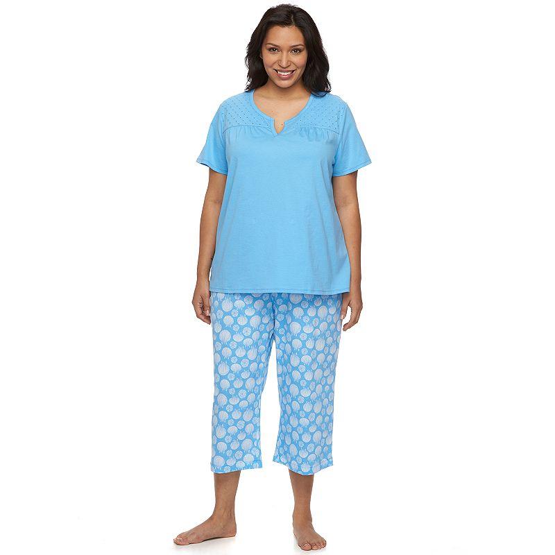Plus Size Croft & Barrow® Pajamas: Beachside Dreams Capri Pajama Set