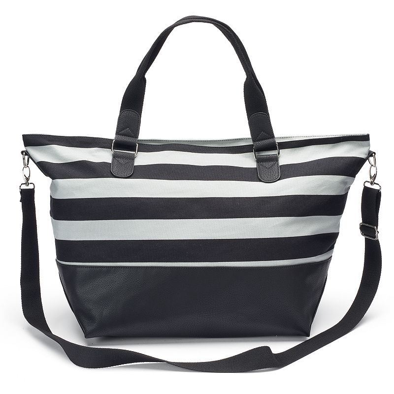 Candie's® Lily Striped Weekender Bag