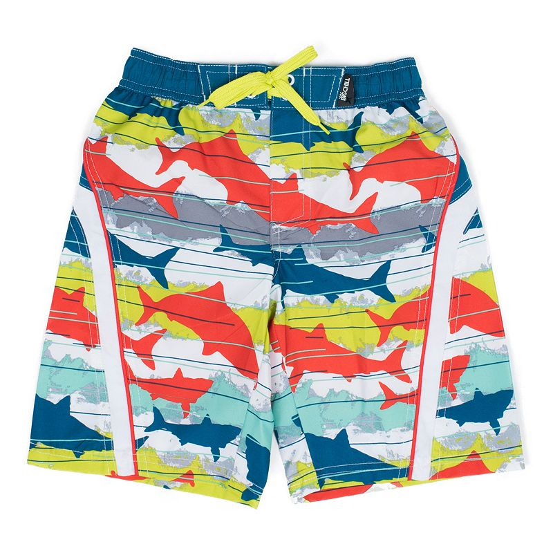 Boys 4-7 Big Chill Camouflage Shark Swim Trunks