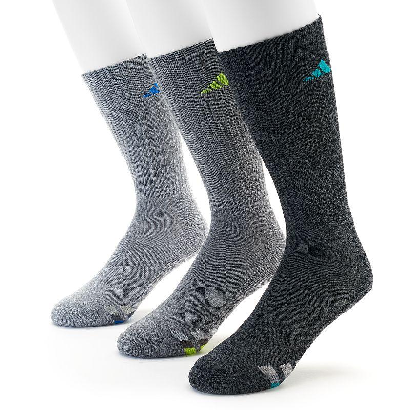 adidas 3-Pack Climalite Cushioned Performance Crew Socks - Men
