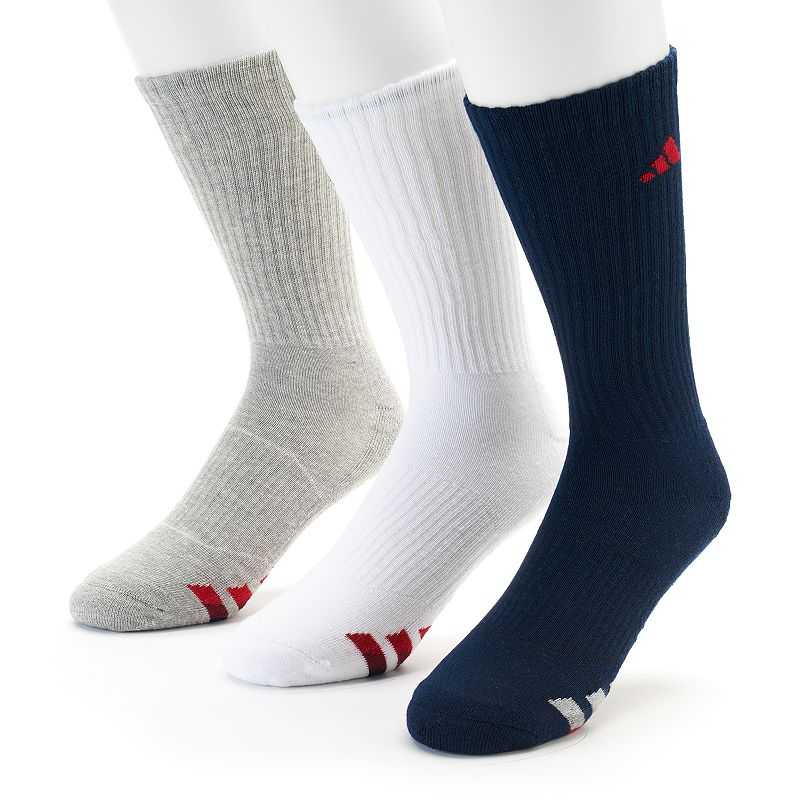 adidas 3-Pack Climalite Cushioned Performance Crew Socks - Men