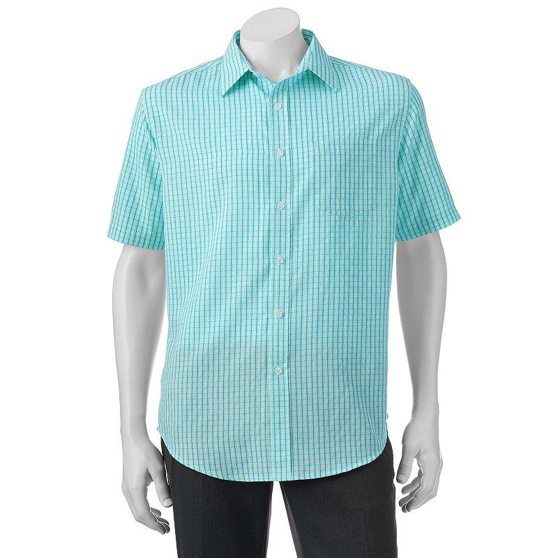 Men's Croft & Barrow® Classic-Fit Plaid Easy-Care Microfiber Button-Down Shirt