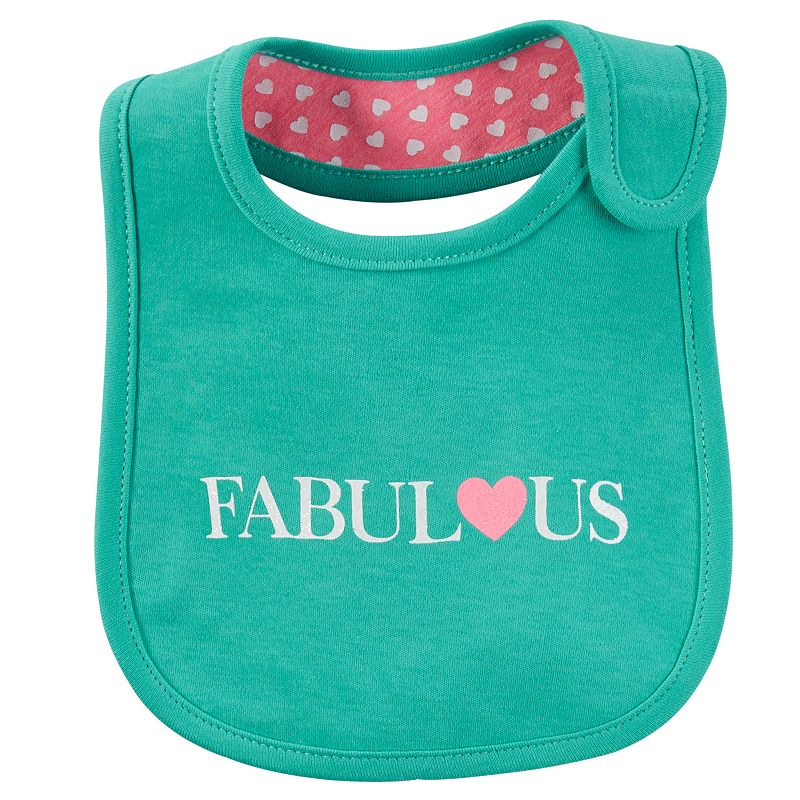 Baby Girl Carter's Family Slogan Bib