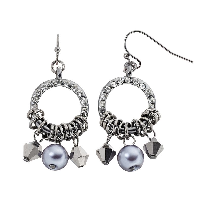 Simply Vera Vera Wang Hoop Drop Earrings