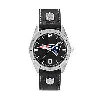 Men's New EnglandPatriots Guard Leather Watch