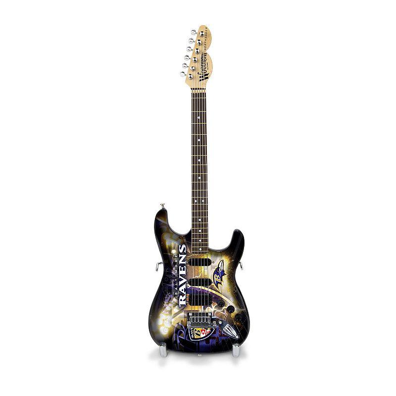 Baltimore Ravens NorthEnder Collector Series Mini Replica Electric Guitar