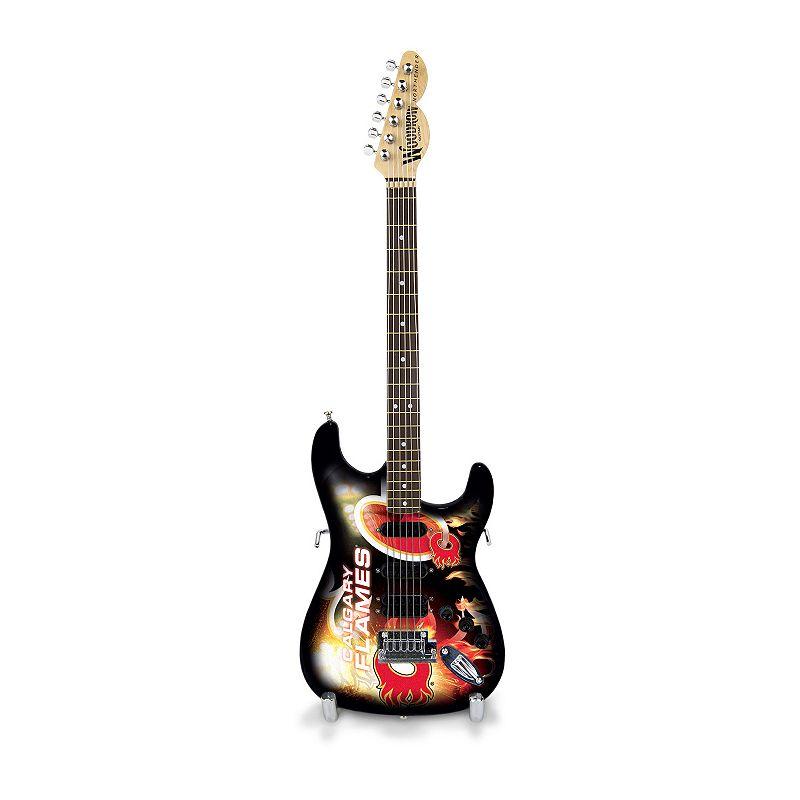 Calgary Flames NorthEnder Collector Series Mini Replica Electric Guitar