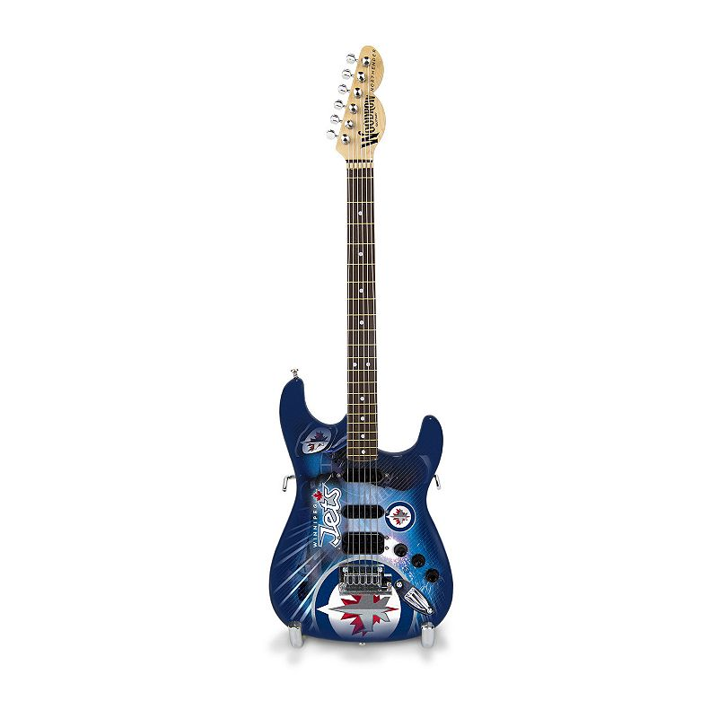 Winnipeg Jets NorthEnder Collector Series Mini Replica Electric Guitar