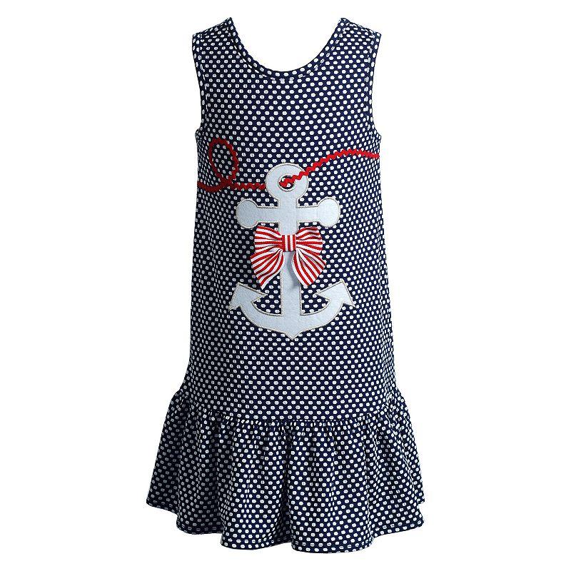 Girls 4-6x Youngland Popcorn Knit Nautical Anchor Sundress
