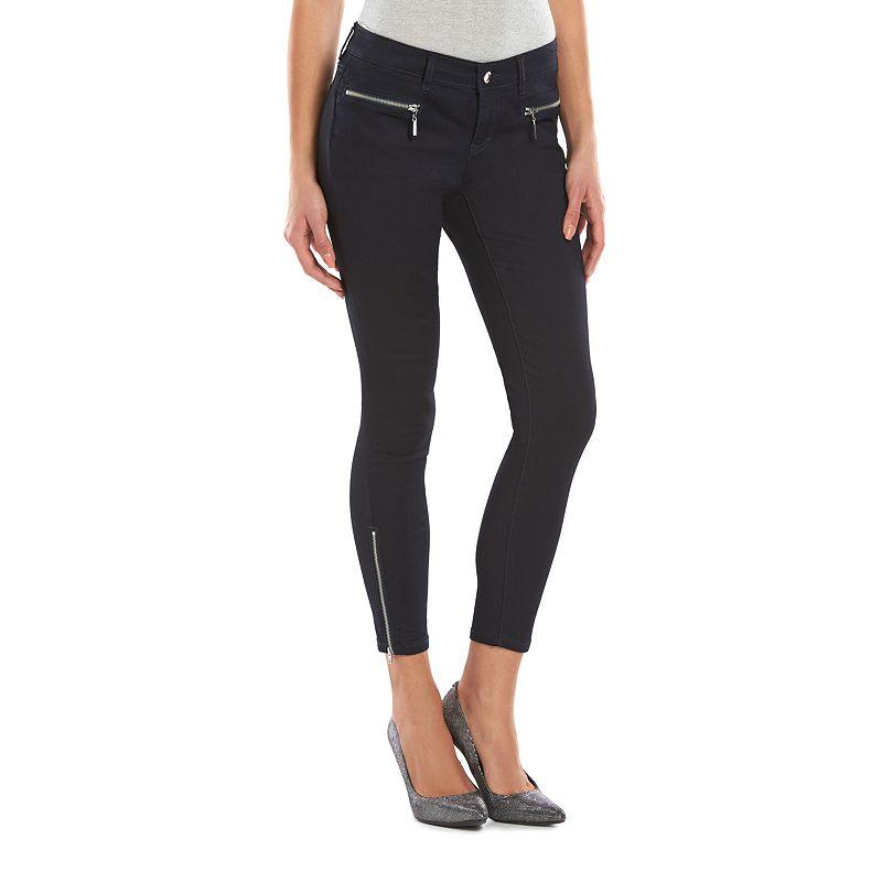 Women's Jennifer Lopez White Skinny Ankle Jeans