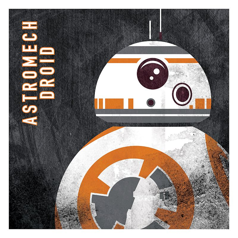 Star Wars: Episode VII The Force Awakens BB-8 Distressed Wall Art