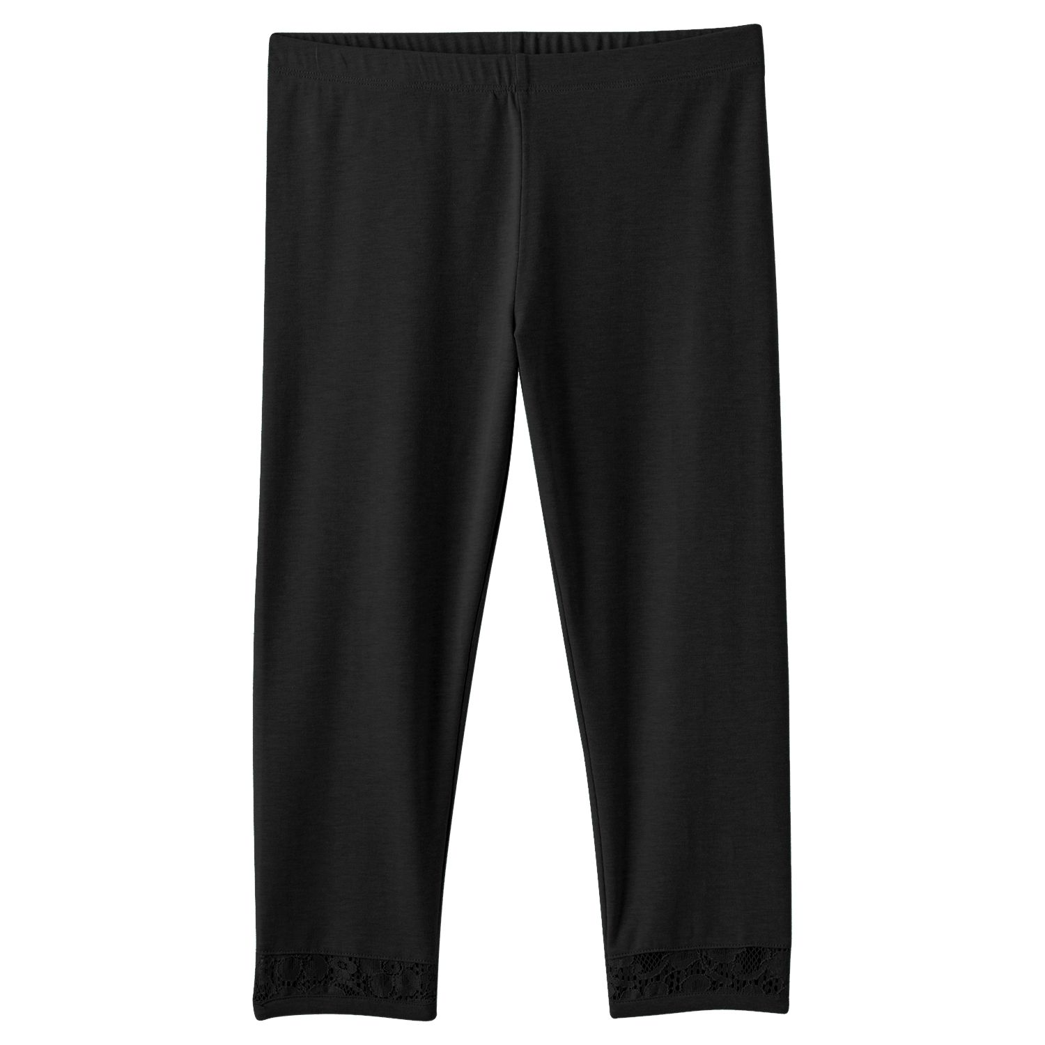 Girls Black Capris
