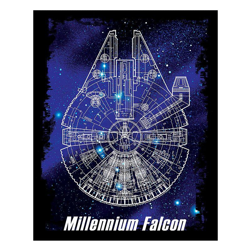 Star Wars: Episode VII The Force Awakens Millennium Falcon Blueprint Wall Art