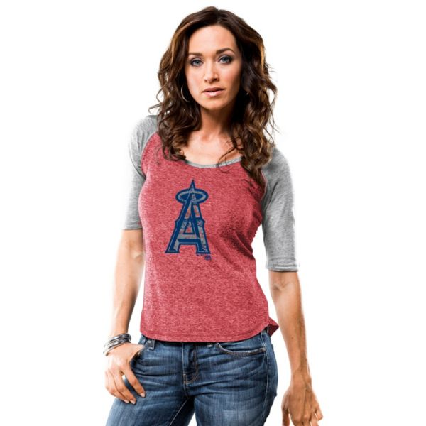 Women's Majestic Los Angeles Angels of Anaheim Athletic Greatness Tee