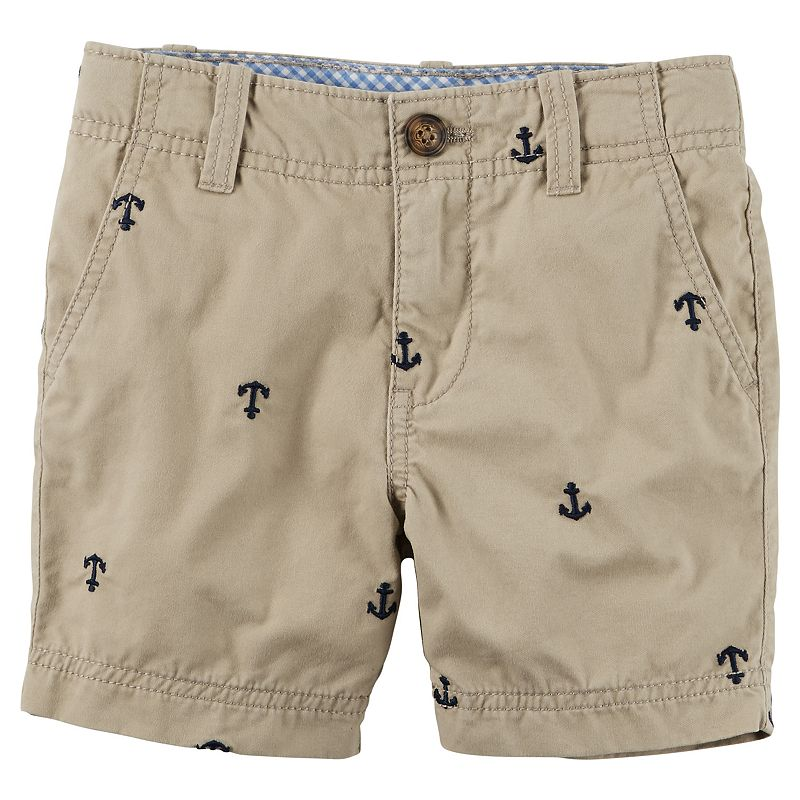 Toddler Boy Carter's Embroidered Canvas Shorts