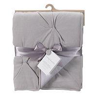 Living Textiles Baby Reversible Jersey Pintuck Comforter