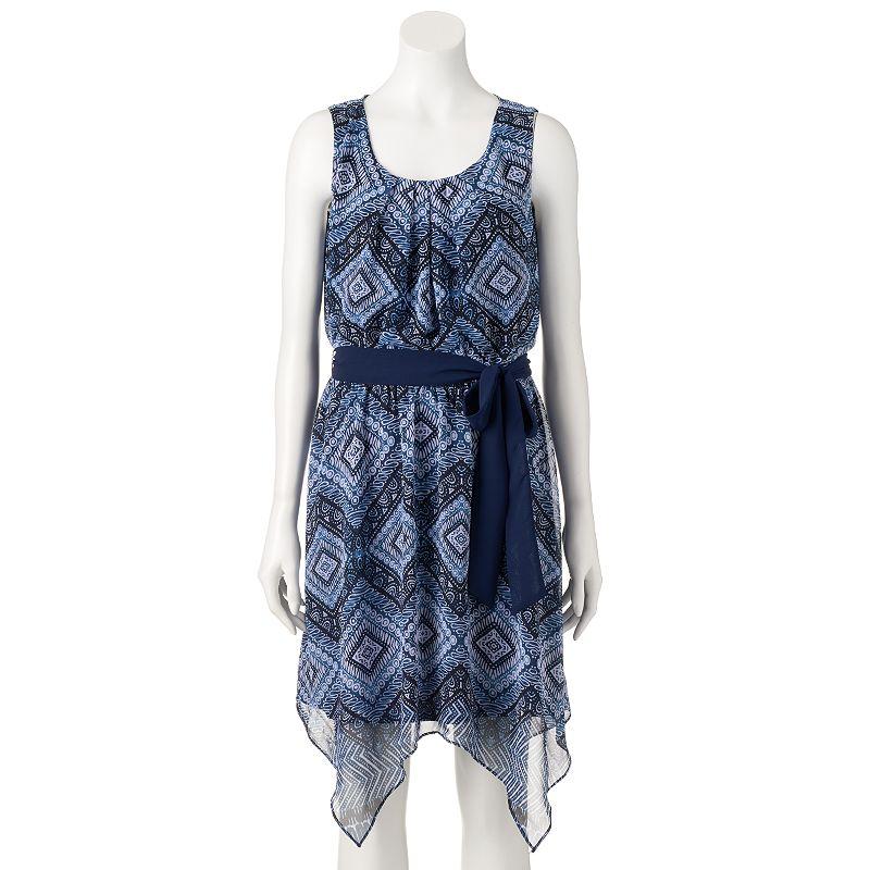 Women's AB Studio Geometric Paisley Fit & Flare Dress