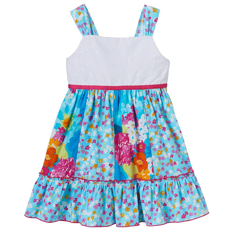 Toddler Girl Youngland Mix-Print Floral Dress