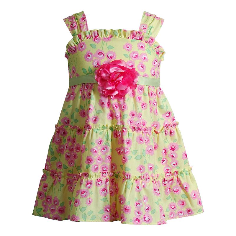 Toddler Girl Youngland Tiered Flower Printed Dress