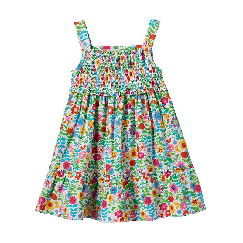 Toddler Girl Youngland Smocked Floral Dress