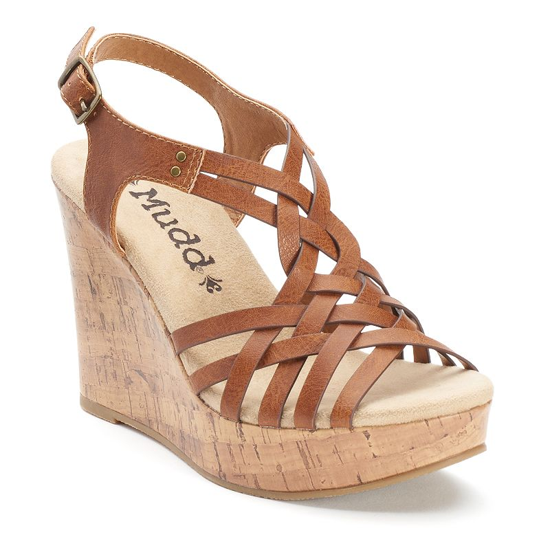 Mudd® Women's Strappy Wedge Sandals