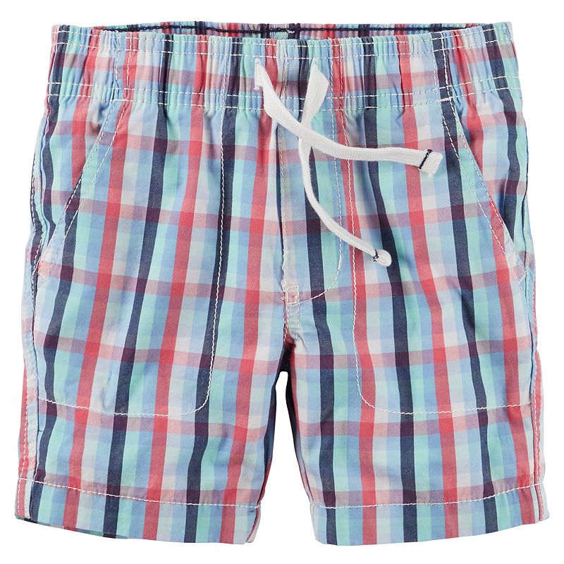Baby Boy Carter's Pull-On Plaid Shorts