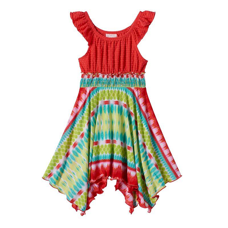 Toddler Girl Youngland Handkerchief-Hem Tie-Dye Dress