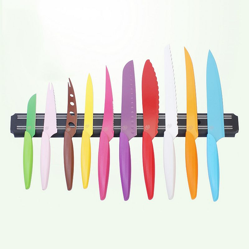 Gela 10-pc. Knife Set with Magnetic Utensil Board