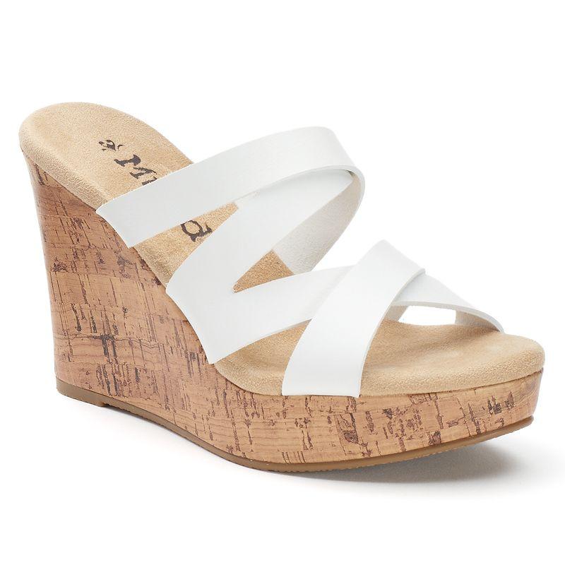 Mudd® Women's Strappy Wedge Sandals