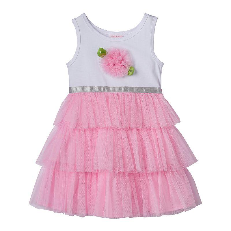 Toddler Girl Youngland Tiered-Mesh Tutu Dress