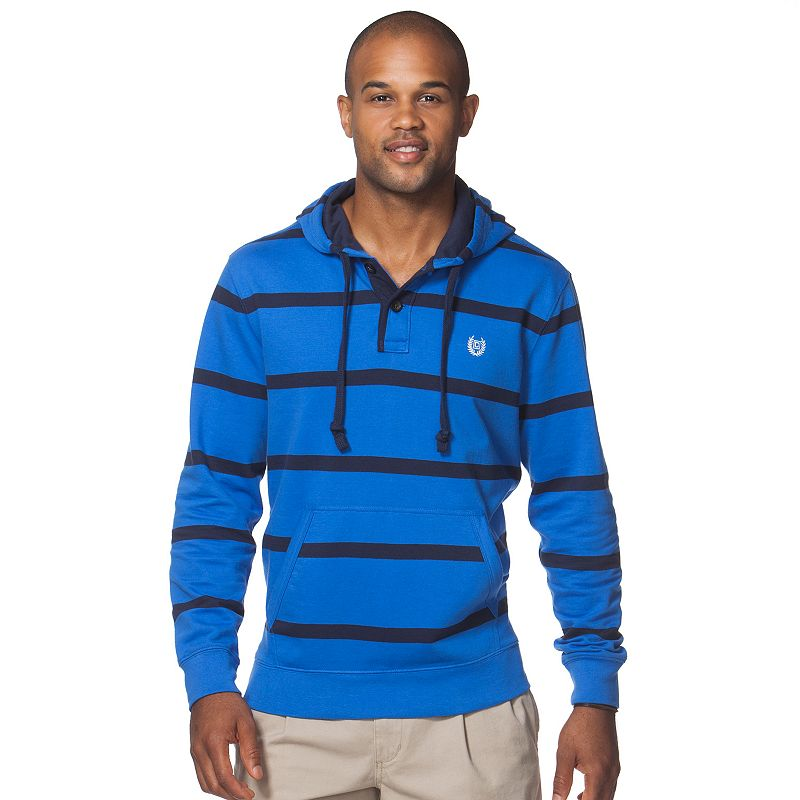 Men's Chaps Bay Harbor Classic-Fit Striped Hoodie