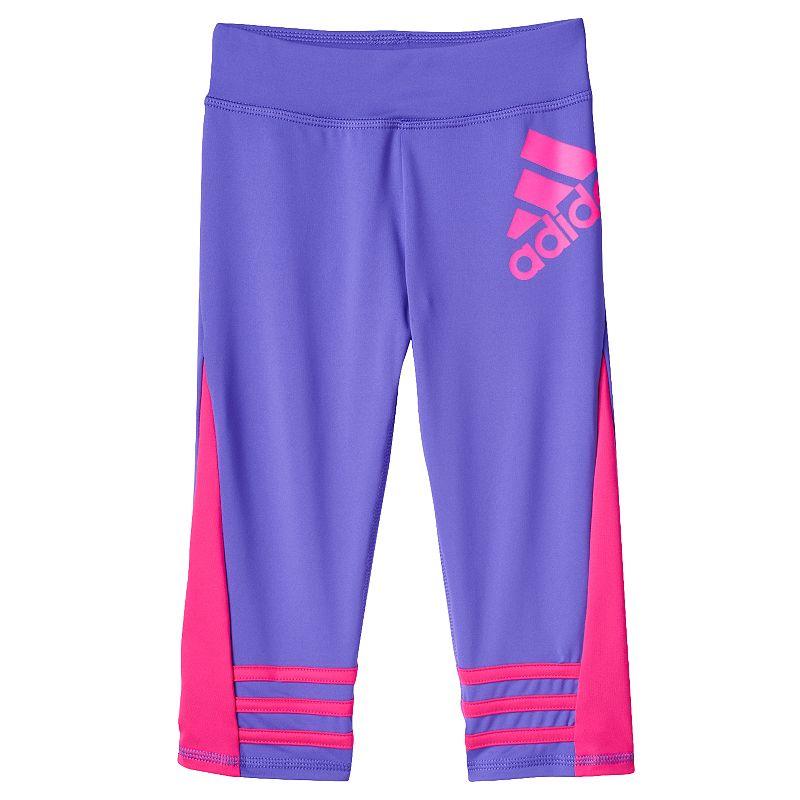 Girls 4-6x adidas climalite Colorblocked Capri Leggings