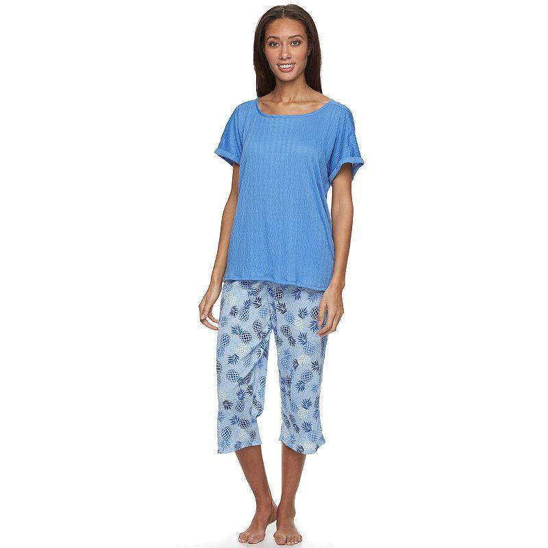 Women's Croft & Barrow® Pajamas: Knit Gauze Pajama Set