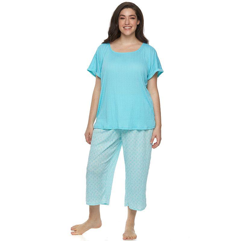 Plus Size Croft & Barrow® Pajamas: Knit Gauze Pajama Set