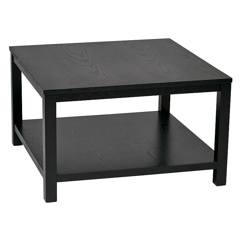 Square Coffee Table Black Ave Six Merge 30 In Square Coffee Table
