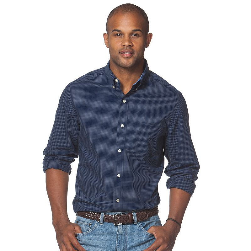 Chaps cotton navy shirt kohl 39 s for Chaps shirts on sale