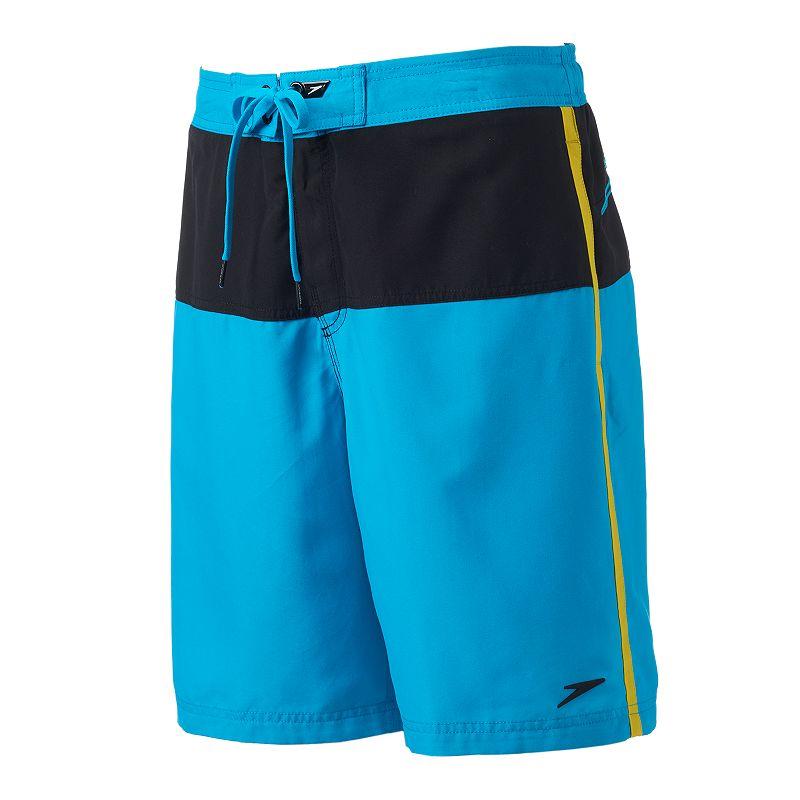 Men's Speedo Long Bay Colorblock E-Board Shorts