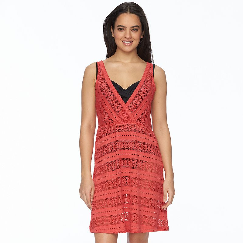 Women's Portocruz Crochet Surplice Cover-Up