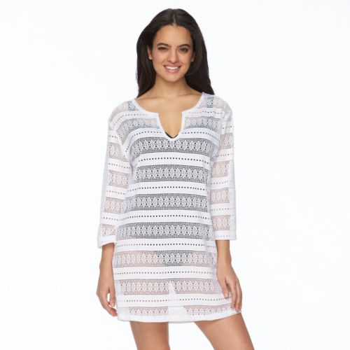 Women's Portocruz Crochet Splitneck Cover-Up