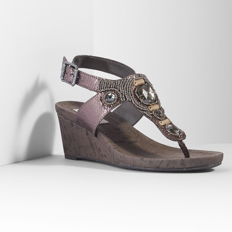 Simply Vera Vera Wang Women's Thong Wedge Sandals