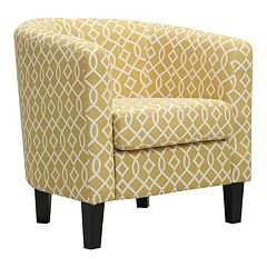 Click here to buy Riley Barrel Arm Accent Chair.