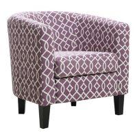 Riley Barrel Arm Chair (Soft Geo Purple)