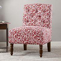 Madison Park Serena Accent Chair (Scribbles Terra Cotta)