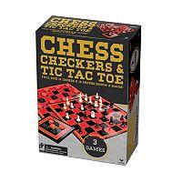 Cardinal Games Classic Chess, Checkers & Tic Tac Toe