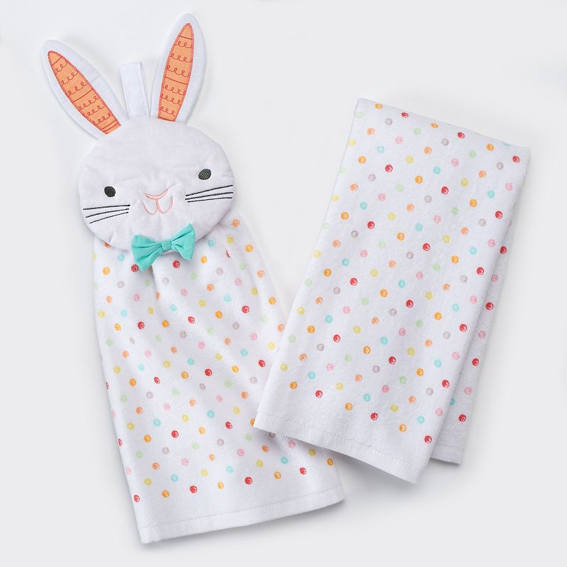 Celebrate Easter Together Bunny Button Kitchen Towels - 2 pk.