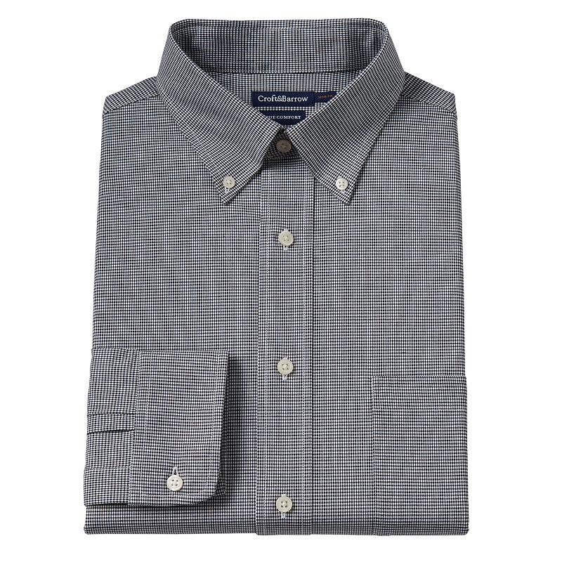 Men's Croft & Barrow® True Comfort Slim-Fit Oxford Easy-Care Stretch Dress Shirt