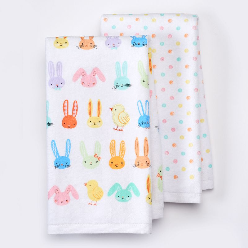 Celebrate Easter Together Bunny Toss Kitchen Towels - 2 pk.