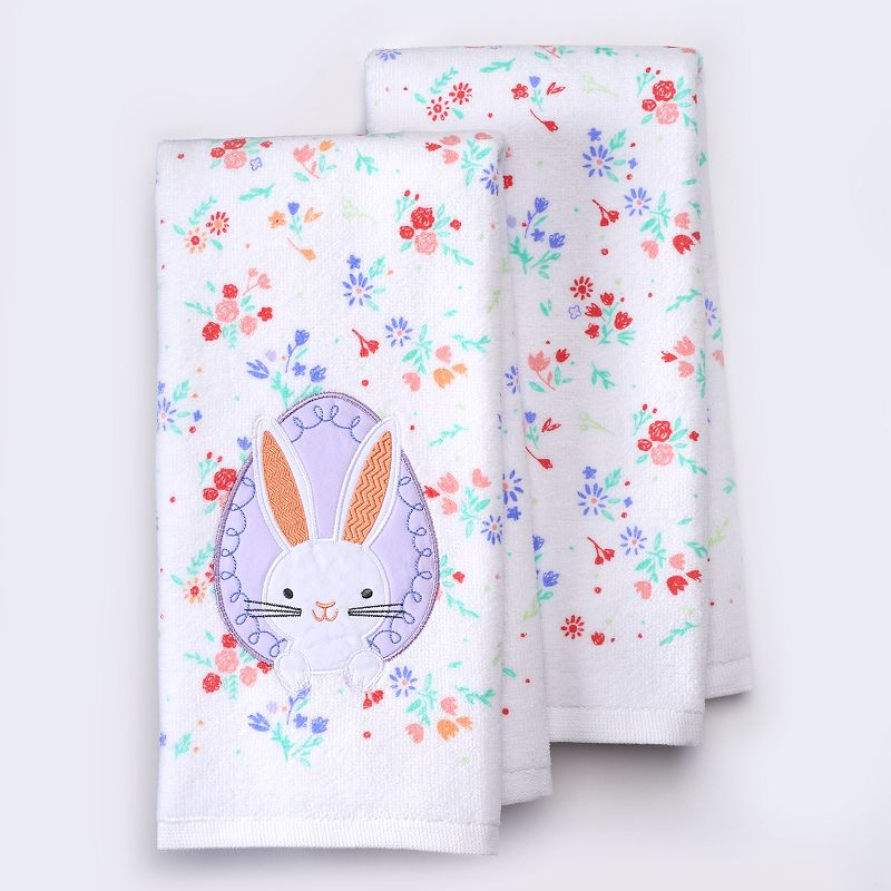 Celebrate Easter Together Peaking Bunny Kitchen Towels - 2 pk.