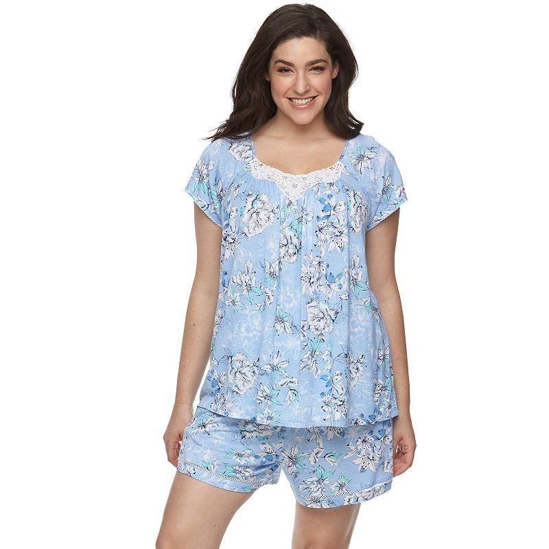 Plus Size Croft & Barrow® Pajamas: Day Breeze Tee & Shorts Pajama Set