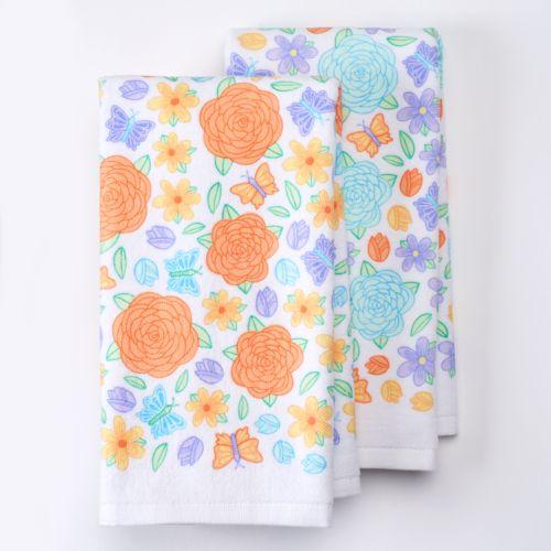 Celebrate Easter Together Floral Kitchen Towels - 2 pk.